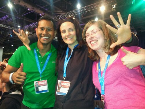 Rocking with my firewalking buddies at last year's UPW.