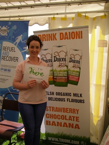 I'm Here with Daoni Organic Milk at the Newcastle Emlyn Food Festival