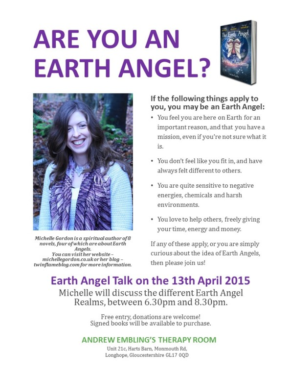 earth angel talk poster april