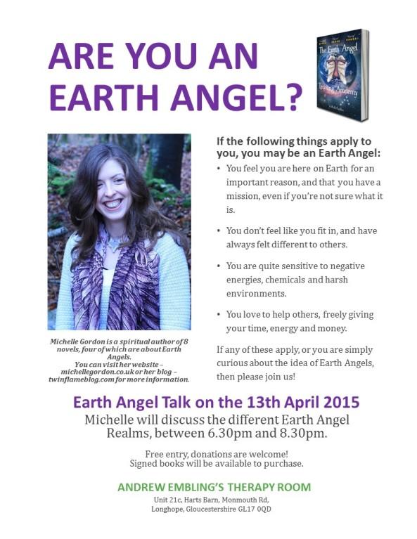 earth angel talk poster april
